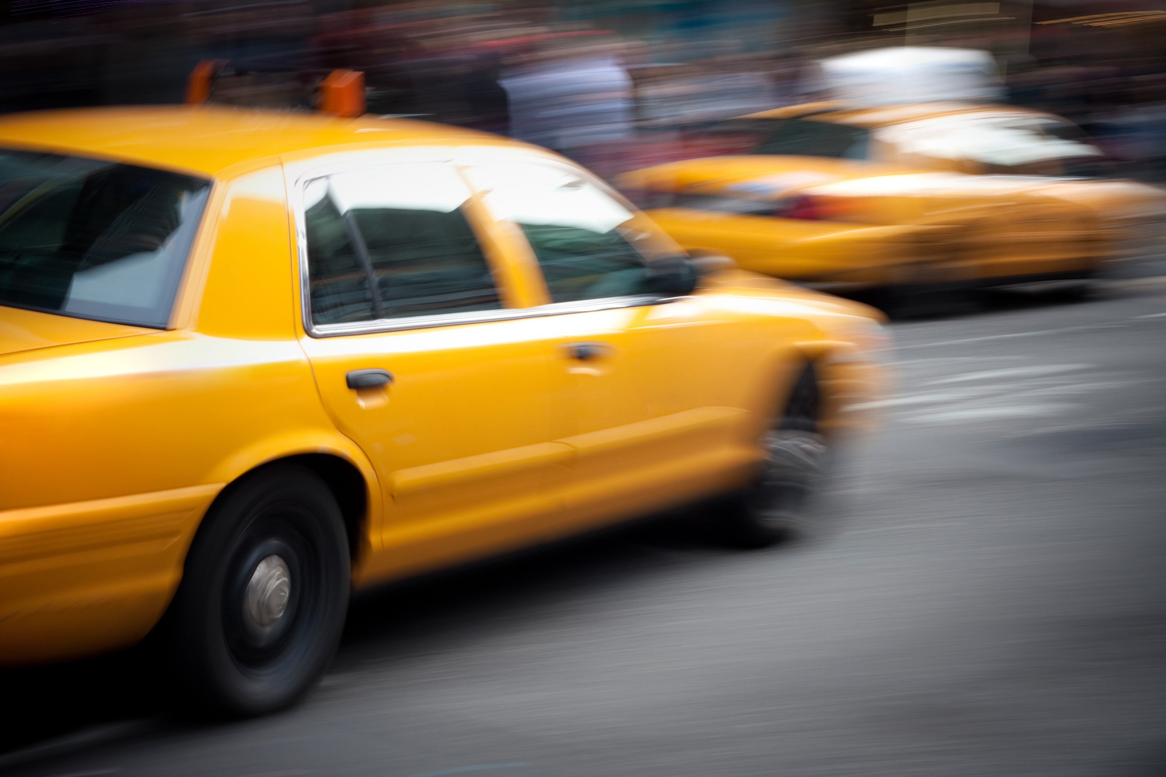 Taxi Leaving